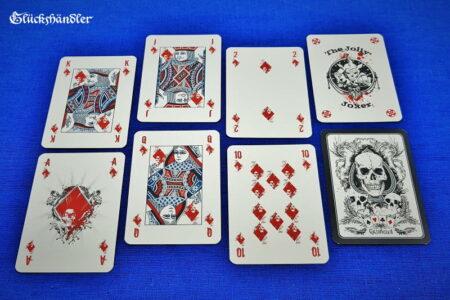 Death Game Poker - Karo-Bildkarten mit Joker