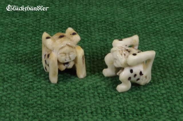 Menschleinwürfel Handarbeit aus Knochen