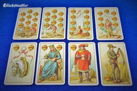 Mittelalterkarte 1886. Schellen-Karten