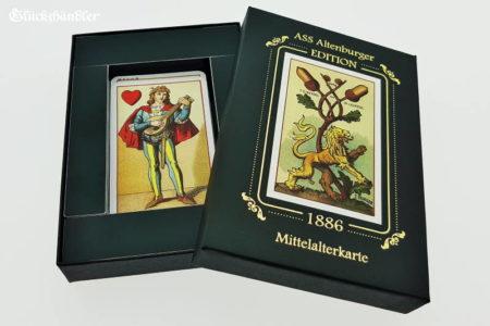 Mittelalterkarte 1886. Verpackung offen