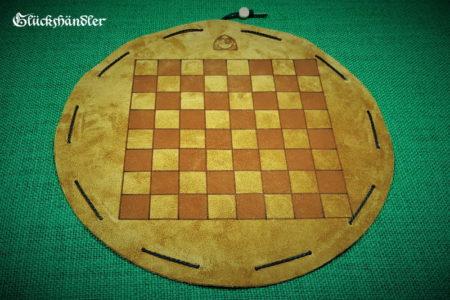 Schachbrett - Leder - Beutelspiel