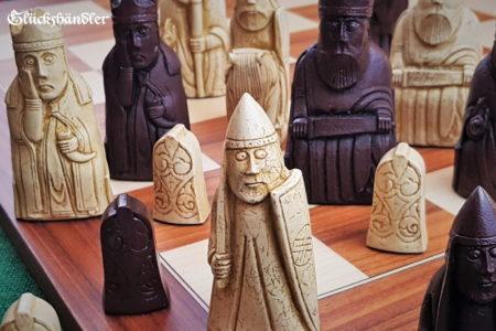 Schachfiguren Isle of Lewis groß Farbe Braun & beige