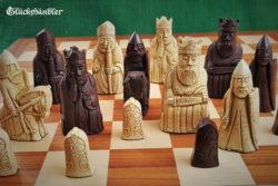 Schachfiguren Isle of Lewis groß Farbe Braun & beige III