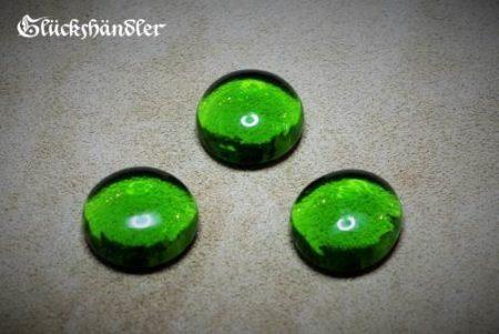 Spielstein Glas grün 18mm