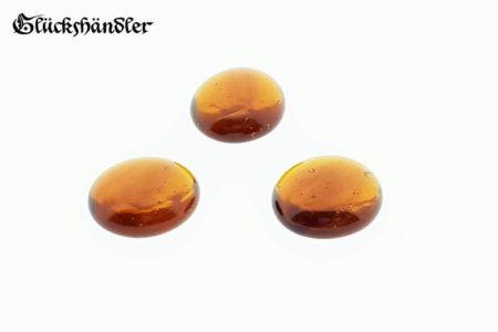 Spielsteine Glas 17 - 20mm Bernsteinfarbig