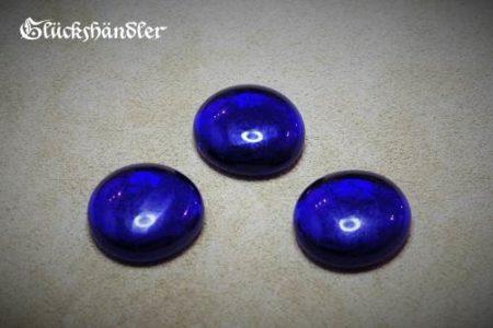 Spielsteine Glas 18mm blau