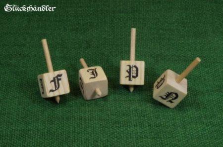 Dreidel / Toton Mittelalterliches Glückspiel