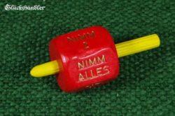 Nimm-Gib Würfelkreisel rot