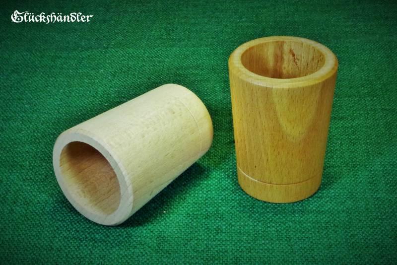 Würfelbecher Holz Natur & gewachst