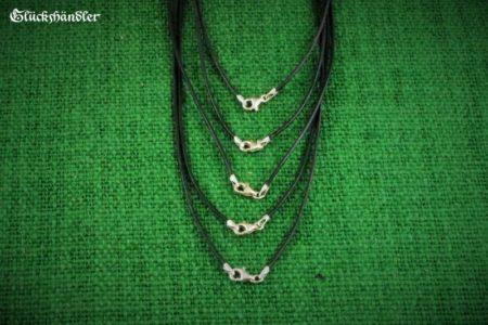 Lederbänder schwarz 1,5mm mit Silberverschluss