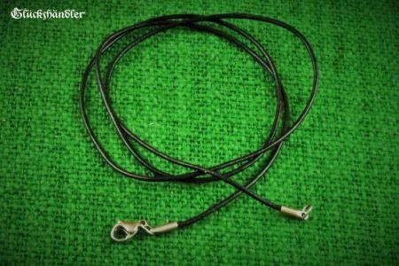 Lederband schwarz 1mm mit Edelstahlverschluss