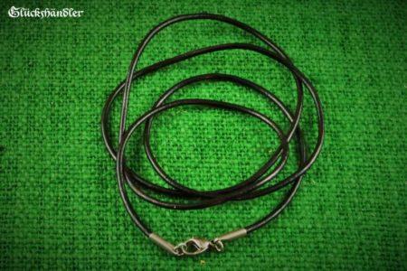 Lederband schwarz 2mm mit Edelstahlverschluss
