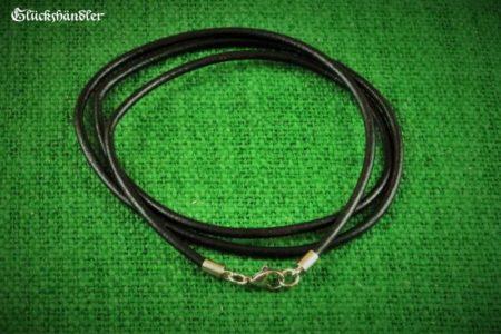 Lederband schwarz 3mm mit Edelstahlverschluss
