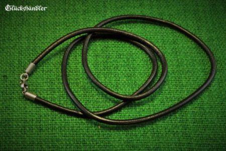Lederband schwarz 4mm mit Edelstahlverschluss