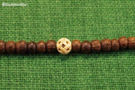 Paternosterlette - Knochenperle und gemusterte Holzperlen