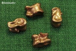 vier Astragale aus Bronze