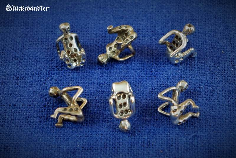 Würfelmännchen - Römisch - Silber