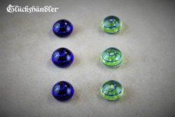 Spielsteine Birka Grab Glas blau-grün 18mm