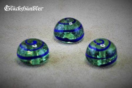 Spielsteine Birka Grab Glas grün 18mm