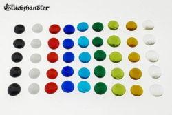 Spielsteine aus Glas - Größe 13-15mm gemischt.