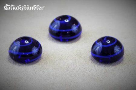 Spielsteine Glas Birka Grab blau 18mm