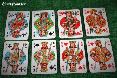 DDR Skatkarten franz. Bild Könige und Buben