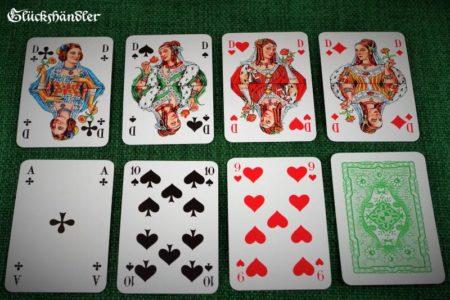 Skatkarten der Altenburger Spielkartenfab. COEUR 9R Damen