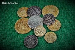 Münzen - Dublonen, Escudos , Piratenschatz - Repliken