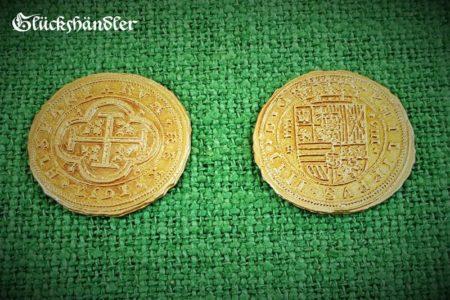 Münzen d. 40mm Dublonen goldfarbig- Repliken
