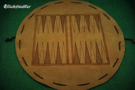 Backgammon Brettspiel aus Leder - Beutelspiel