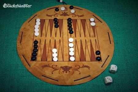 Backgammon-aus-Leder-als-Beutelspiel-mit-Spielsteinen-aus-Glas