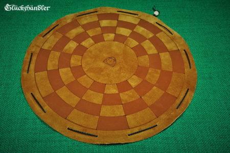 Byzantinisches Schachbrett aus Leder - als Beutelspiel