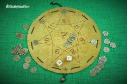 Glückshaus Stern mit 36 Münzen