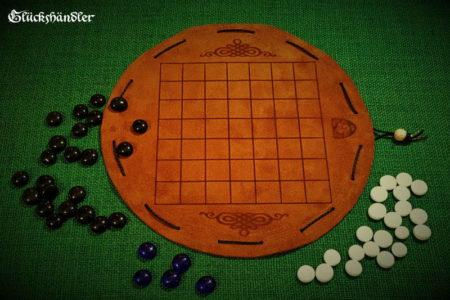 Pah Tum Brettspiel aus Leder d 23 cm