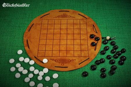 Seega 7 x 7 Felder Brettspiel aus Leder (1)