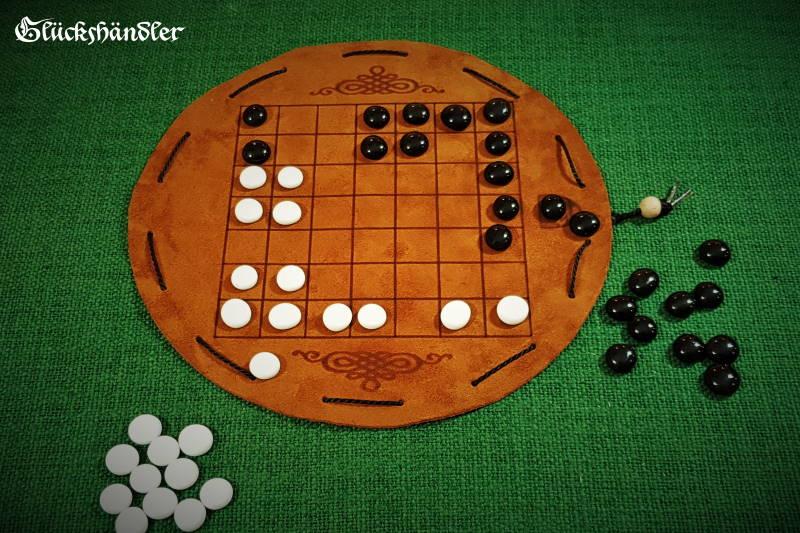Seega 7 x 7 Felder Brettspiel aus Leder