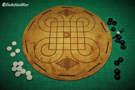 Surakarta Brettspiel aus Leder Spielfläche