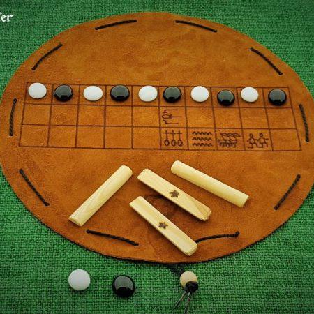 Senet - Beutelspiel mit Spielsteinen
