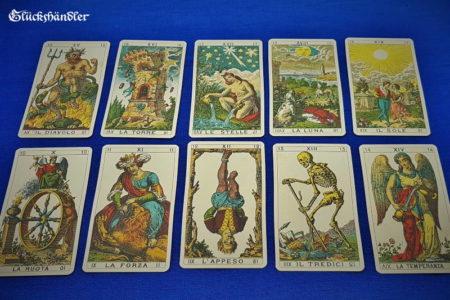 Altes Italienisches Tarot - Ancient Ilalian Tarot - Große Arkana 10-19