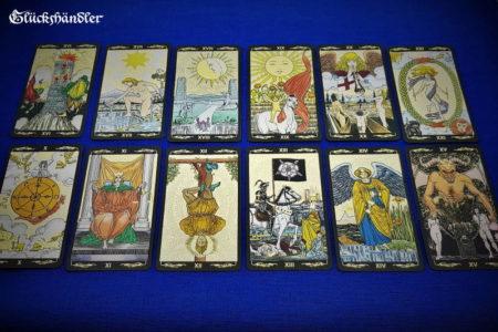 Golden Universal Tarot - Große Arkana 10-21