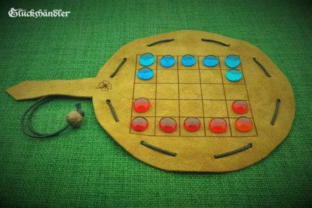 O-Pat-Kono/ 5 Felder Kono Spielsteine Glas rot&blau