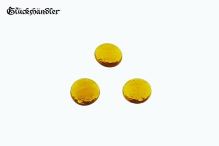 Spielsteine Glas 13-15mm Farbe - Bernstein