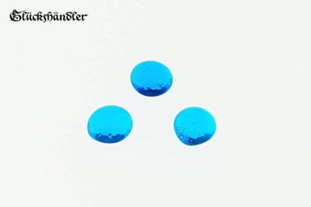 Spielsteine aus Glas 13-15mm hellblau