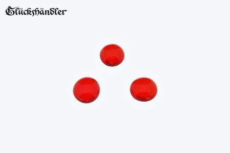 Spielsteine aus Glas Größe 13-15mm Farbe rot