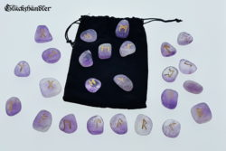 Runen Orakel - Set - Amethyst mit Samtsäckchen