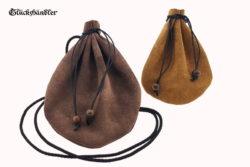 Lederbeutel - historische Geldbeutel - Geldkatzen dunkelbraun Rustikal und hellbraun