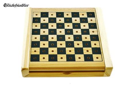 Reiseschach - Steckschach aus Holz