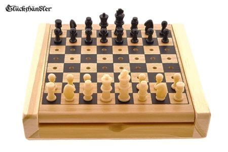 Reiseschach - Steckschach aus Holz mit Figuren III