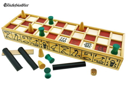 Senet historical board game made of wood with tiles