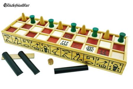 Senet Brettspiel mit Spielsteinen Start - Aufstellung